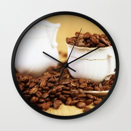 Creamer coffee cup coffee beans kitchen image 2 Wall Clock