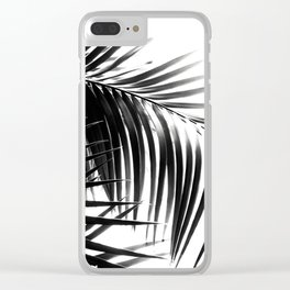 Palm Leaves Black & White Vibes #3 #tropical #decor #art #society6 Clear iPhone Case