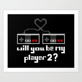 Player 2 Art Print