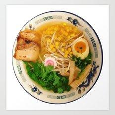 Pork Ramen Noodles Art Print