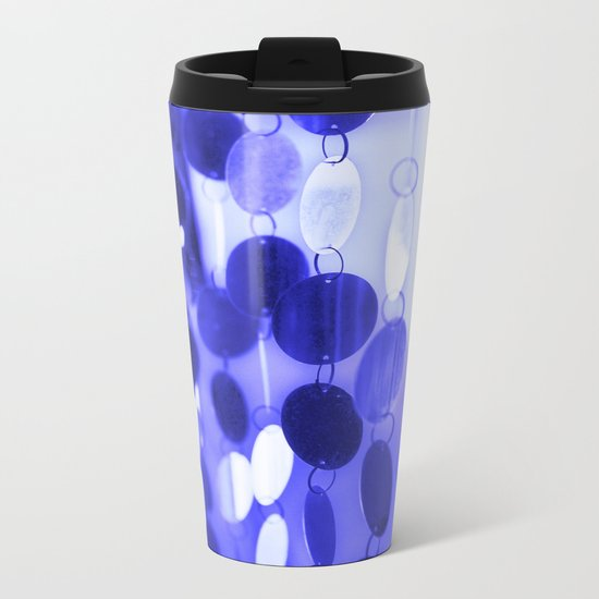 GLAM CIRCLES #Blue #2 Metal Travel Mug