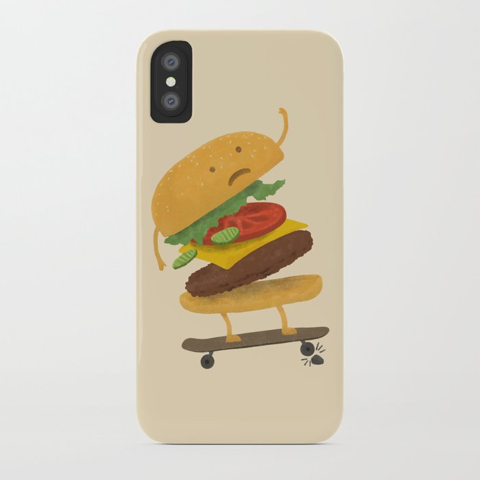 Burger Wipe-out  iPhone Case