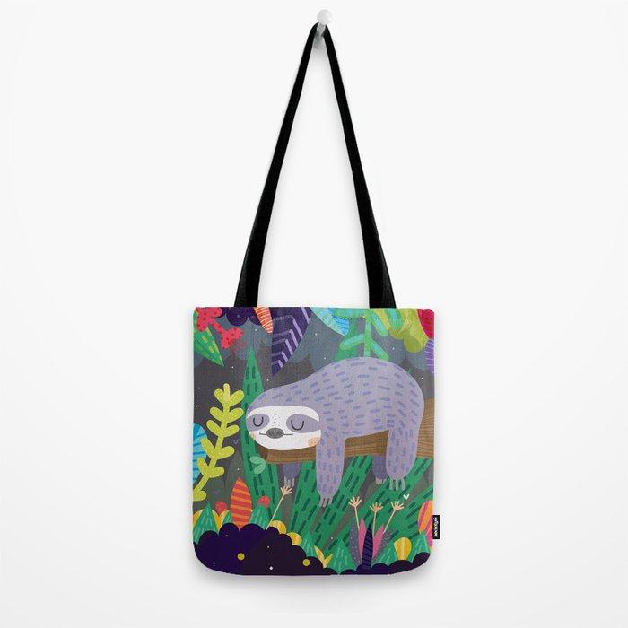 Sloth in nature Tote Bag