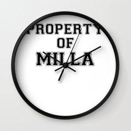Property of MILLA Wall Clock