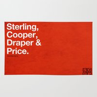 mad men Area & Throw Rugs featuring Mad Men | Sterling, Cooper, Draper & Price by Armando Medina