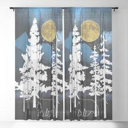 Full Moon Rising II Sheer Curtain