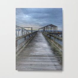 Dock on a Cloudy Day Metal Print