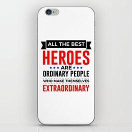 Super Heroes Superheroes Extraordinary Powers iPhone Skin