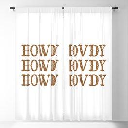 Howdy Western Blackout Curtain