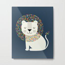 As A Lion Metal Print