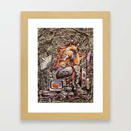 New Age - Thinking Man Framed Art Print