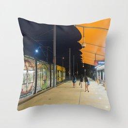 Light Rail Station Throw Pillow