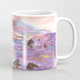 Coastal Dream - Watercolor Painting of the West Coast Coffee Mug