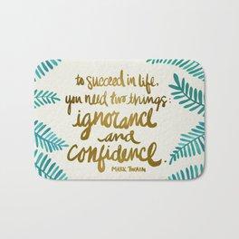 Ignorance & Confidence #1 Bath Mat