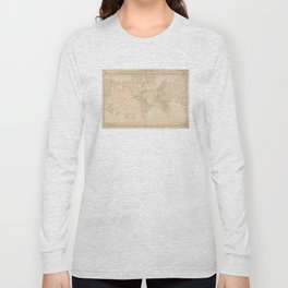 Vintage Map of The World (1897) Long Sleeve T-shirt