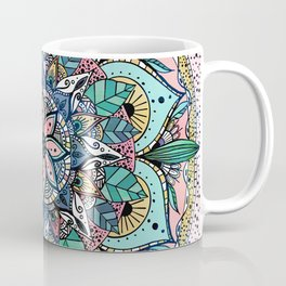 Bohemian Colorful Watercolor Floral Mandala Coffee Mug