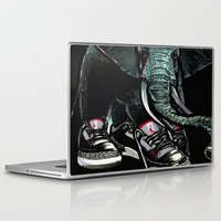 sneaker Laptop & iPad Skins featuring SNEAKER ELEPHANT by Juan Diaz