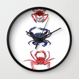 Crab stack Wall Clock