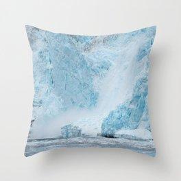 Icy Thunder Throw Pillow