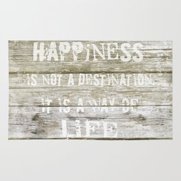 Happiness is not a destination Rug
