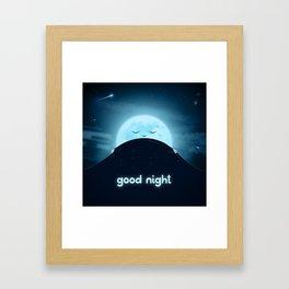Good Night Sky Framed Art Print