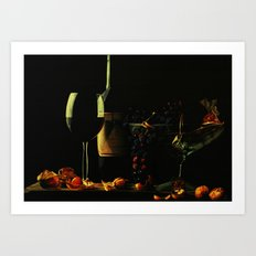 Still Life With Wine Art Print
