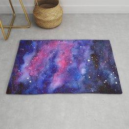 Nebula Galaxy Watercolor Space Sky Rug
