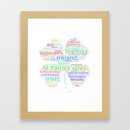 St. Patrick's Day Shamrock Jumble Framed Art Print