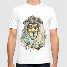 The Lion  White MEDIUM Mens Fitted Tee