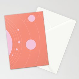 Orbit, pink Stationery Cards
