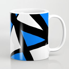 China Blue Geometric Triangle Abstract Inverse Coffee Mug