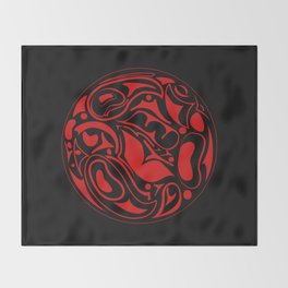 Abstract Indigenous Ornament Throw Blanket