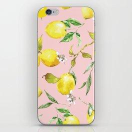Watercolor lemons 9 iPhone Skin