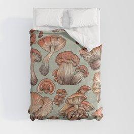 A Series of Mushrooms Comforters