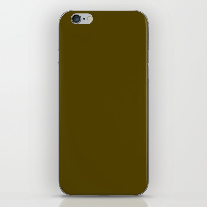 Dark Bronze (Coin) - solid color iPhone Skin