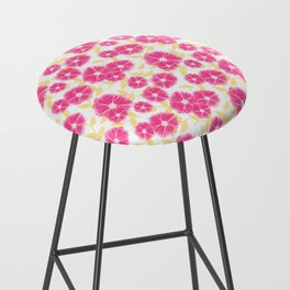 12 Sketched Mini Flowers Bar Stool
