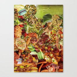 Food Collage 5 Canvas Print