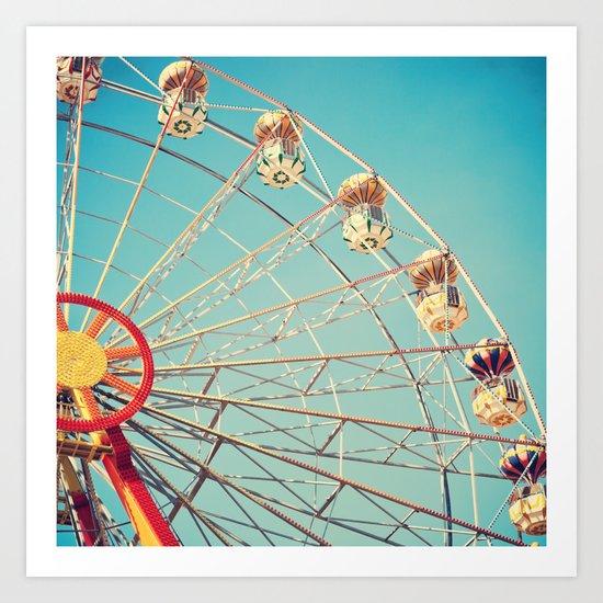 Bright Ferris Wheel Art Print