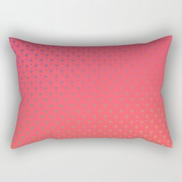 Ombre rainbow stars on red background Rectangular Pillow