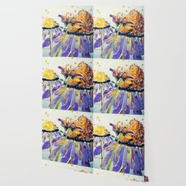 Poppin Purple Echinacea watercolor by CheyAnne Sexton Wallpaper