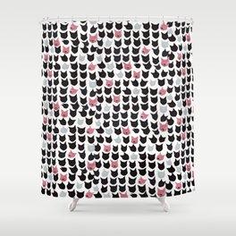 Cat Pattern Shower Curtain
