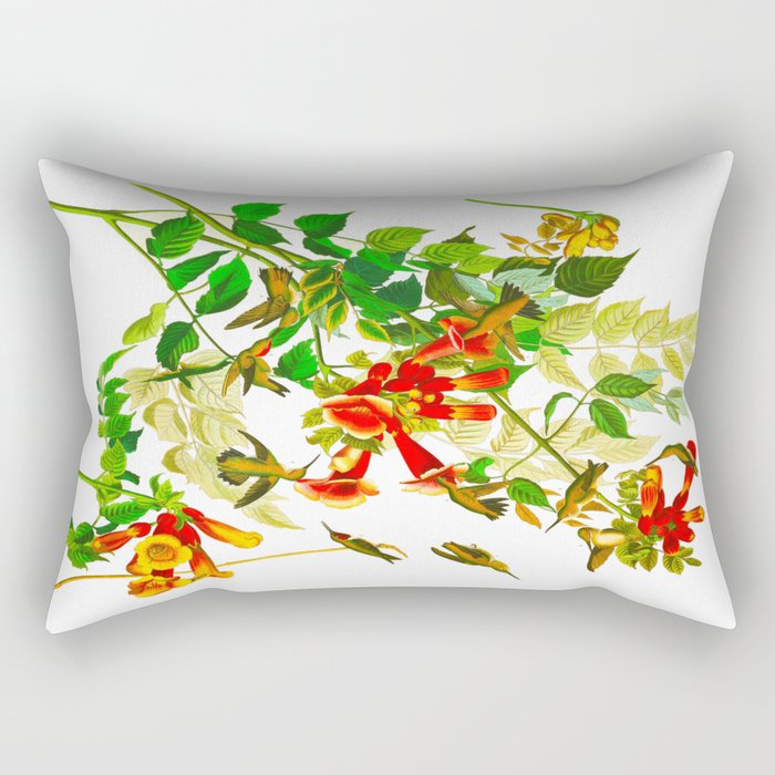 Ruby-throated Humming Bird Rectangular Pillow