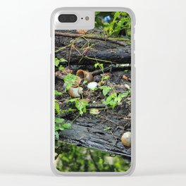 Snail Shell Aftermath Clear iPhone Case