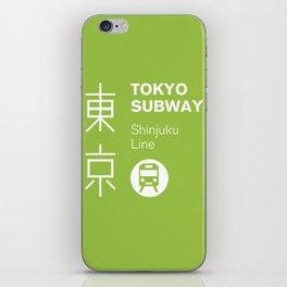 Tokyo Subway - Shinjuku Line iPhone Skin