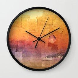 Moon Over Inchkeith v2 Wall Clock