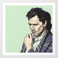 tom hiddleston Art Prints featuring Tom Hiddleston by Gean Shanks