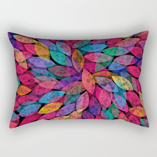 Abstract Colorful leaves III Rectangular Pillow
