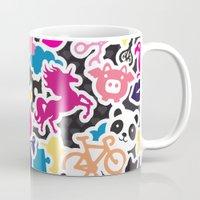 sticker Mugs featuring Sticker Frenzy by XOOXOO