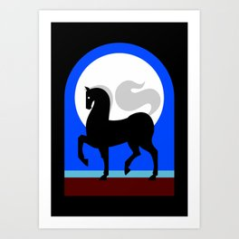 Moon horse Art Print