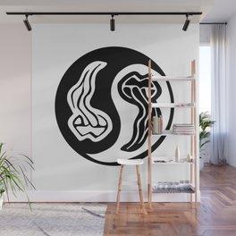yin yang tongue Wall Mural
